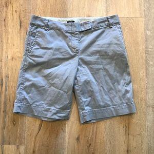 J. Crew City Fit Stretch Grey Shorts